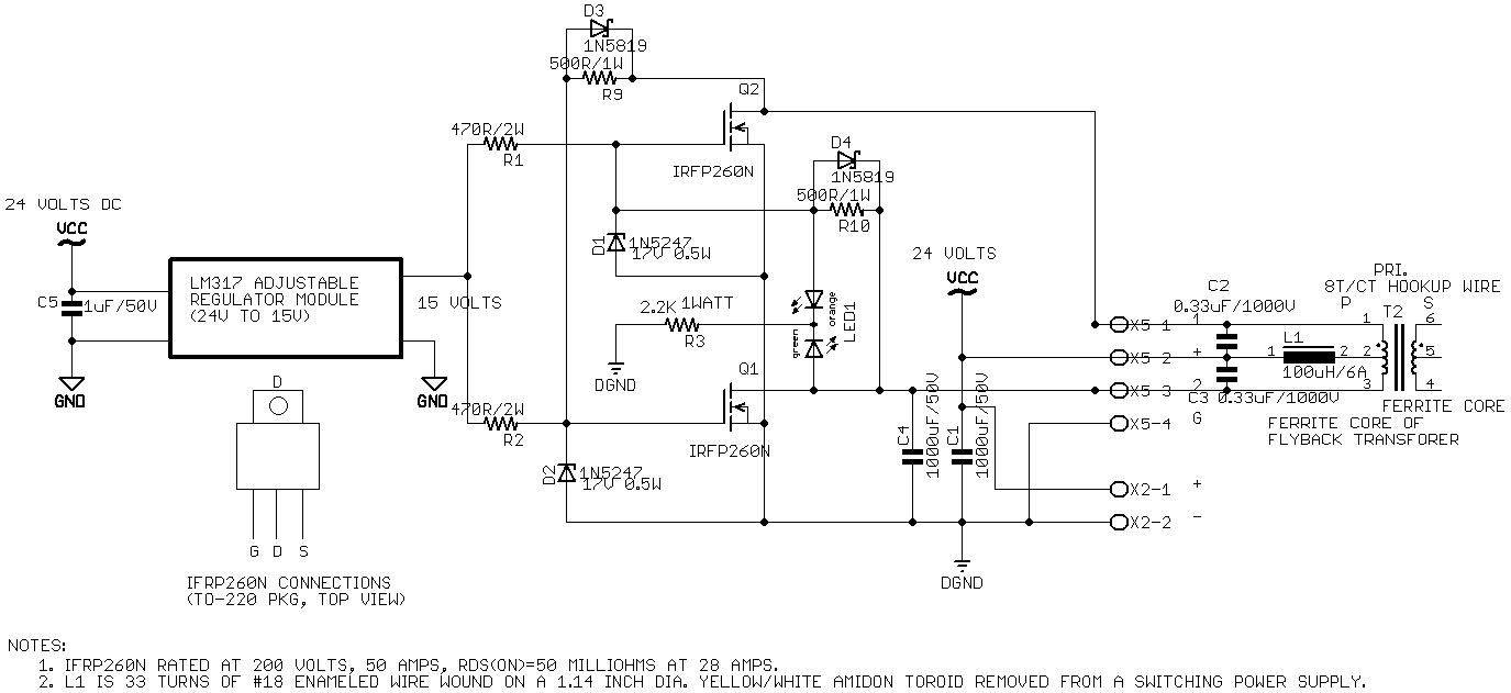 Zvs Driver Optoisolator Circuit Diagram Schematic With Ct Primary