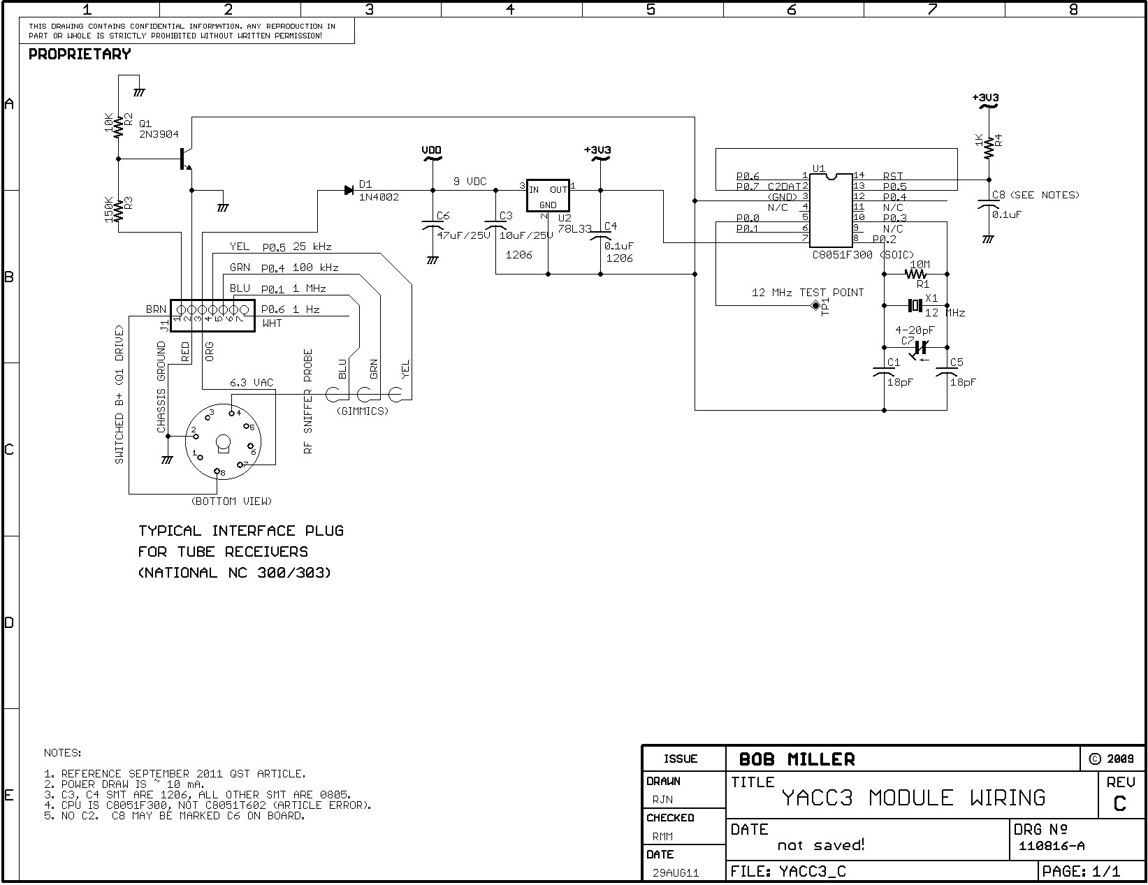 Yacc Module Documentation Interface Wiring Diagram As Shown In The Yacc3 Schematic